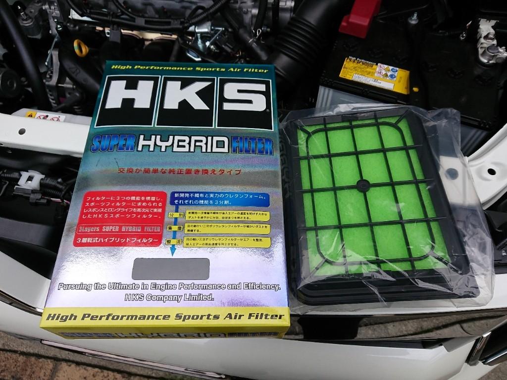HKSスーパーハイブリッドフィルターの取り付け