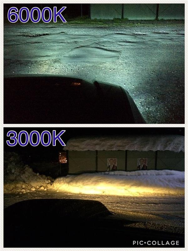 HIDフォグ交換3000K→6000K