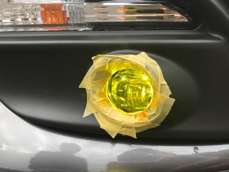 LEDフォグ黄色化