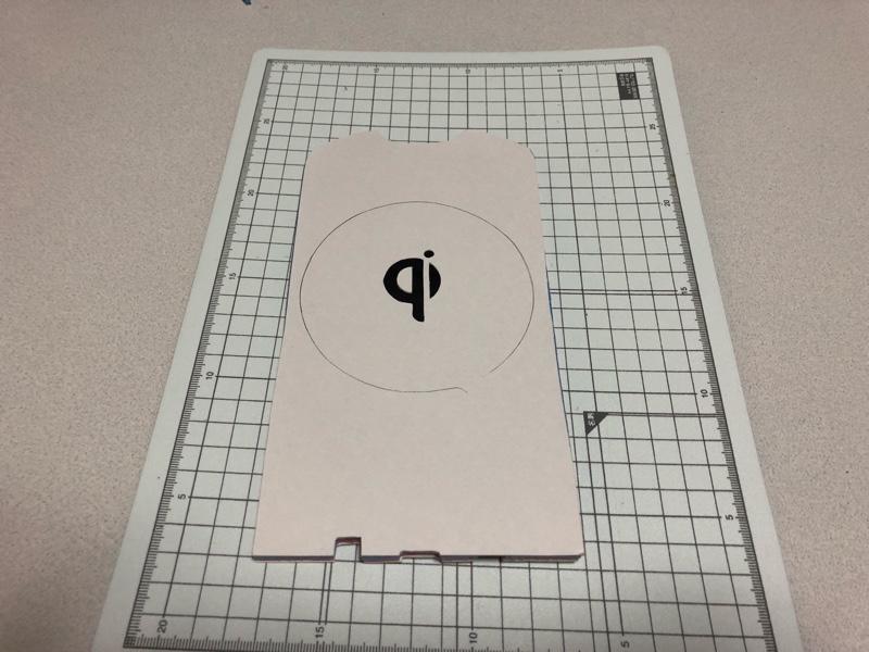 Qiワイヤレス充電器 台座作成③