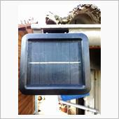 ソーラー式LEDライトのパネルをコーテイング ③の画像