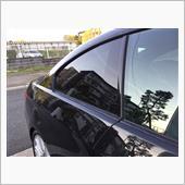 BMW E92 リアサイドガラス スモーク貼り(DIY)の画像