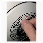 ステッカー貼り貼り❗️の画像