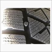 スタッドレスタイヤパンク修理の画像
