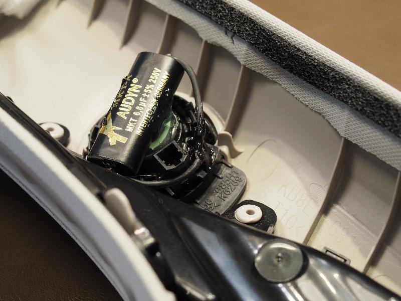 CX-5(KF)BOSEサウンドシステムの音質アップ(ツイーターコンデンサー交換等)