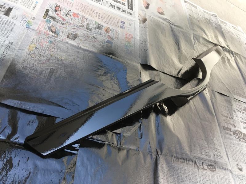 グリル内の羽根部分をブラック塗装