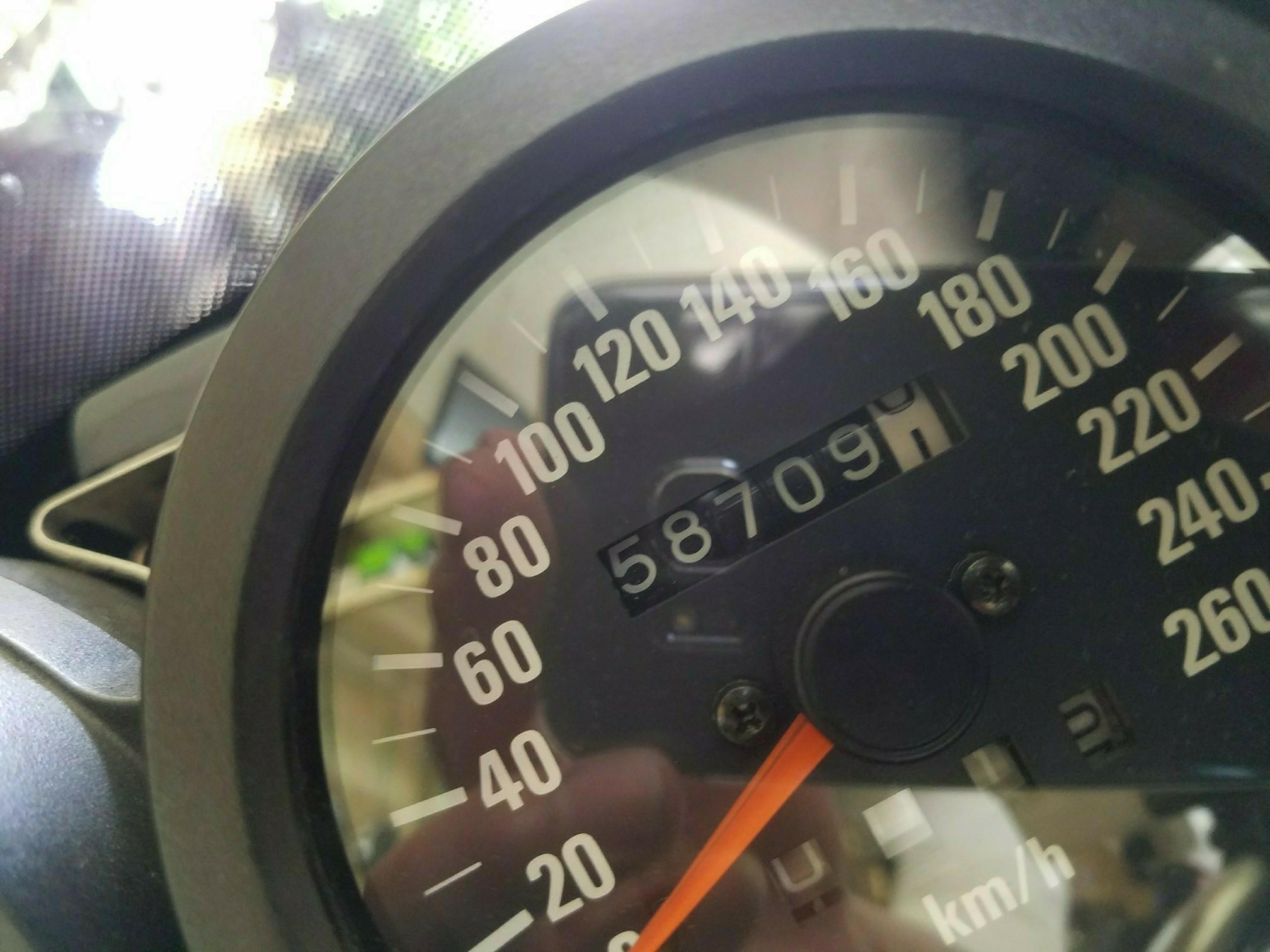 モチュール・300V交換 総走行距離 58,709km。
