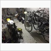 バイク弄りのためのガレージ整理を♪(´ε` )