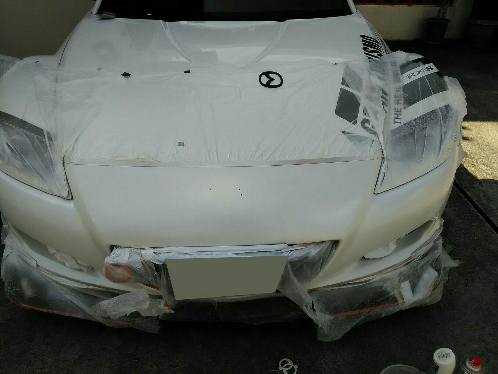 RX-8 フロントバンパー塗装(補修)