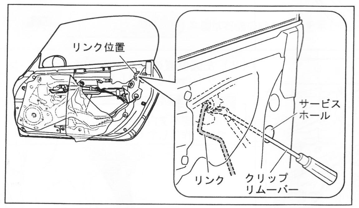 純正ドアアウターハンドル(メッキ)への交換