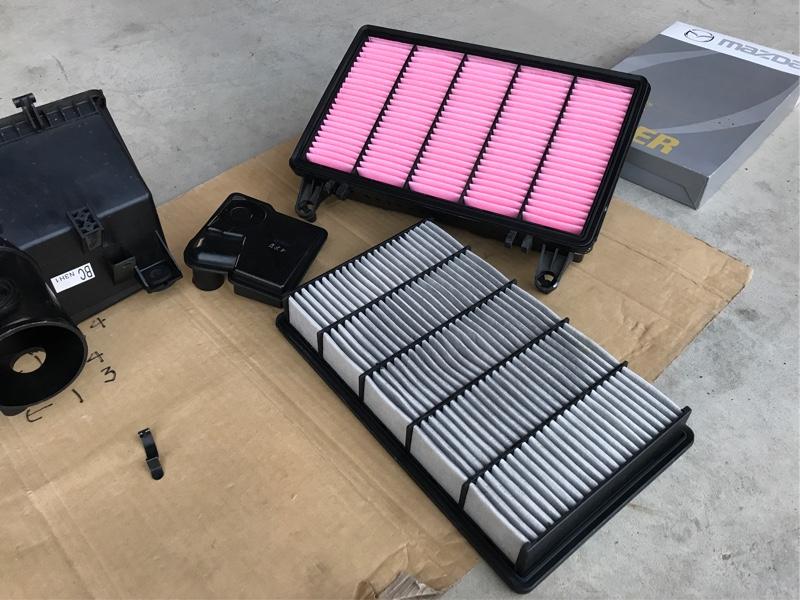 エアクリーナー交換&吸気系統の掃除 65910km