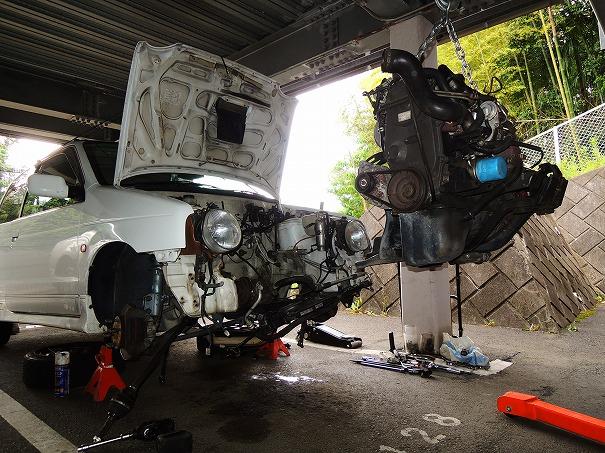 HA11S アルトワークス リビルトエンジン載せ替え
