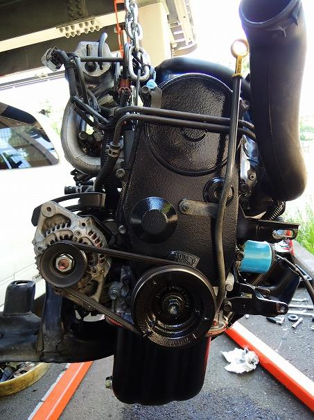 HA11S アルトワークス リビルトエンジン載せ替え#2
