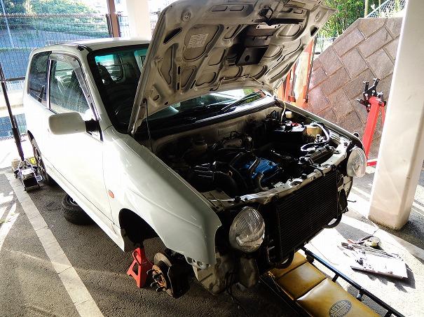HA11S アルトワークス リビルトエンジン載せ替え#3