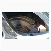 リアブレーキパット ローター交換の画像