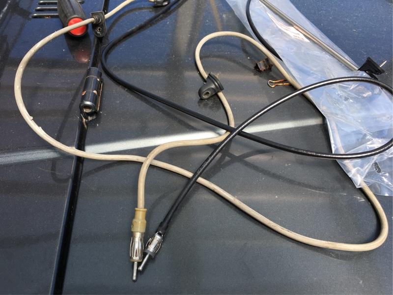 ラジオアンテナ交換