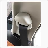 後席シートベルトの異音対策の画像
