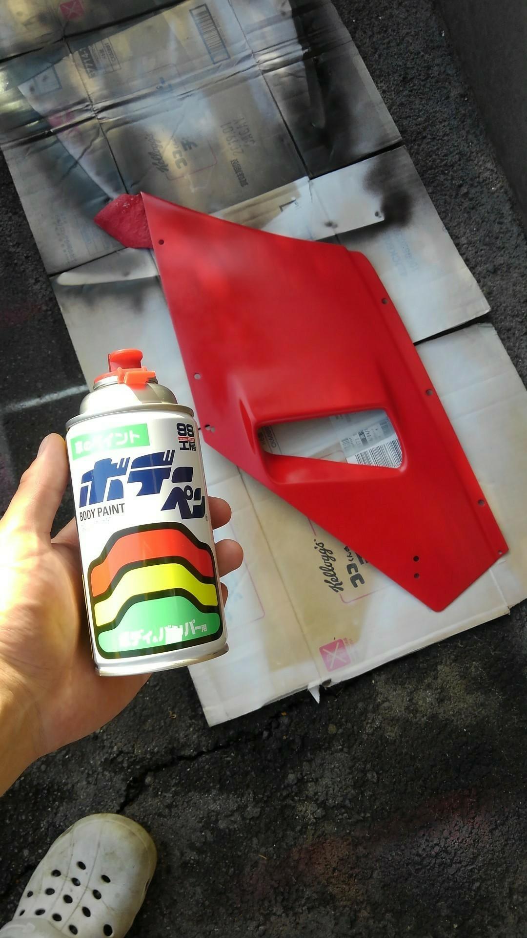 NSR250 88年式 カウル塗装(サイド&アンダーカウル)