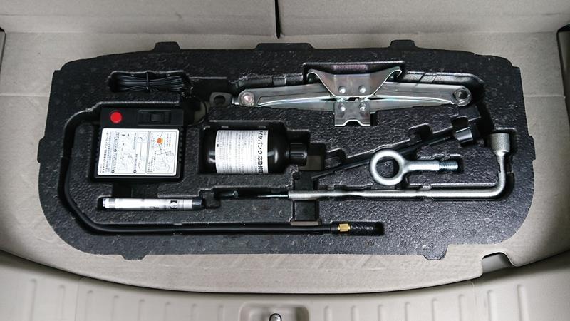 タイヤパンク修理剤を交換