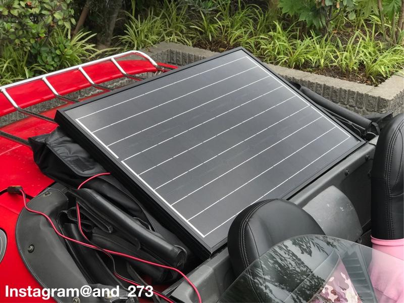 ホンダ BEAT PP1 もスタバでソーラー充電
