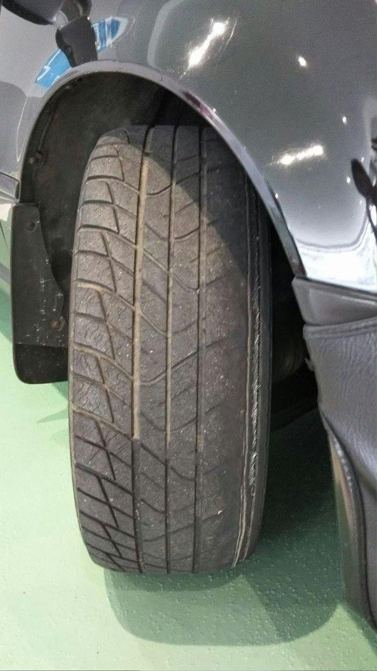 タイヤ購入とアライメント調整