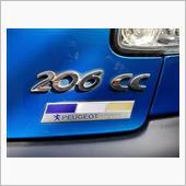 PeugeotSportsトリコロールエンブレム色褪せ補修塗装の画像