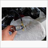 エアコン添加剤施行の画像