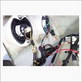 バックカメラ、バッ直電源の配線②の画像