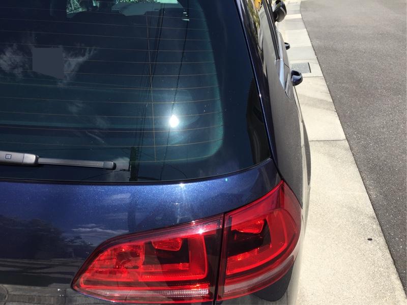 低燃費/低排出ガス認定ステッカー剥がし