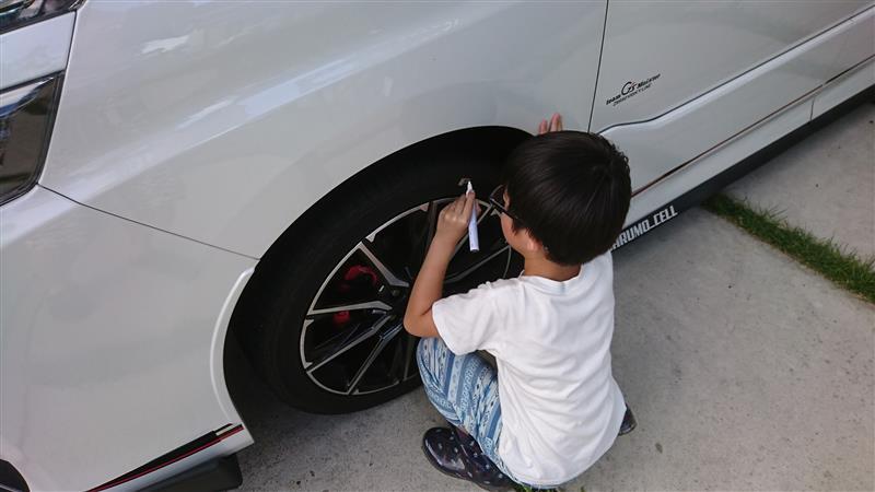 タイヤレタリング-①