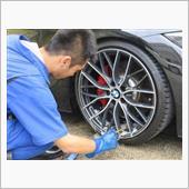 タイヤ&ホイールが新品になったのでおきまりのガラスコーティングを施工します^ ^