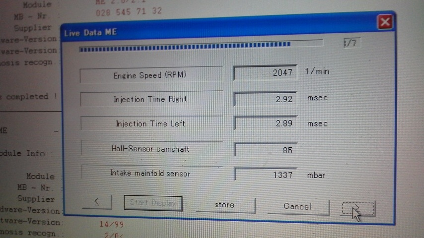 W208 CLK エンジン ライブデータ その2