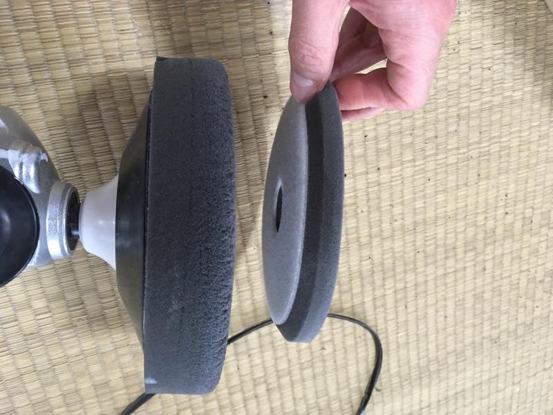 リアアンダーにバックフォグと塗装⑦磨き、電源編