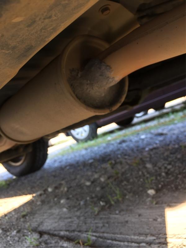 【車検前整備】センターパイプ排気漏れ修理
