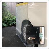 リアスライドドアスピーカー交換、簡易デッドニングの画像