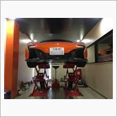 マクラーレン650S スパイダー 自宅ガレージ 初オイル交換!