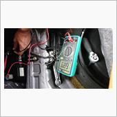 バッテリー交換ついでに暗電流確認の画像