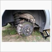 車検前点検整備ーリヤブレーキの画像
