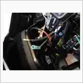 USB電源確保とスマホホルダー取り付け