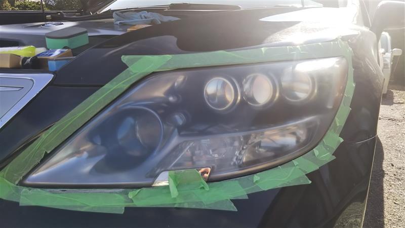 ヘッドライトスチーマー クラック修正  その2