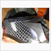 ヘルメットのベタベタ除去の画像