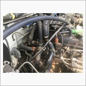 リヤヒーター配管バイパス加工の画像