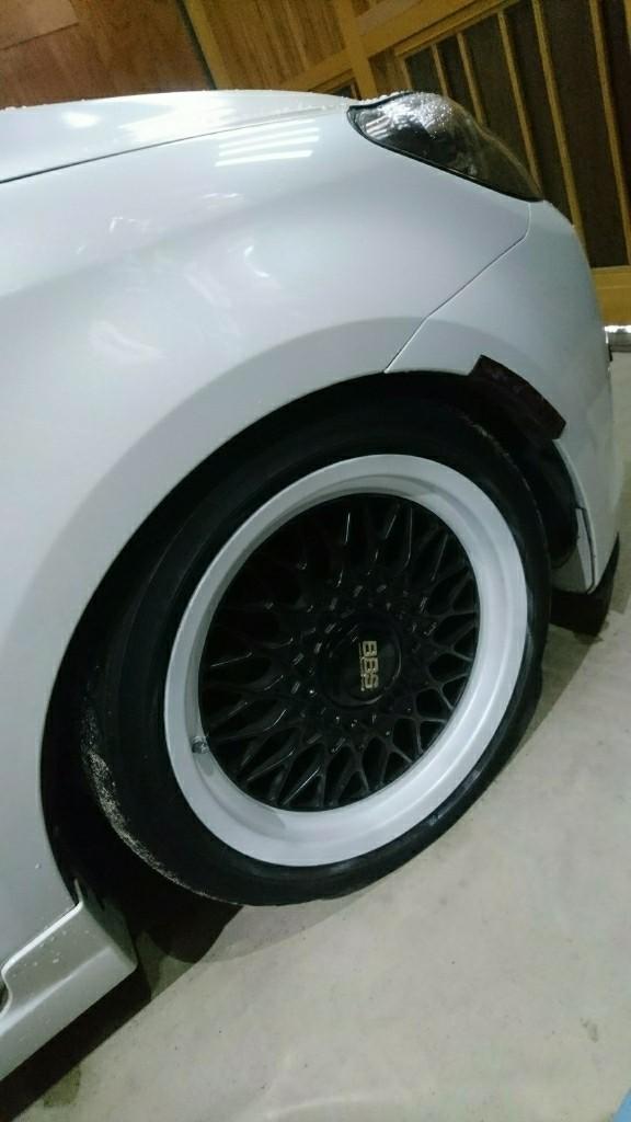 BBS RG リムスノーフレイクホワイトパール塗装