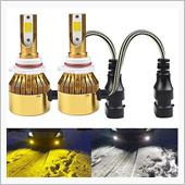 LED フォグランプ/ヘッドライト HB4 9006 イエロー 黄色 3000K ホワイト 白 60