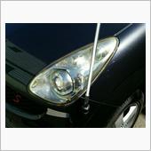 ヘッドライト磨き及びコーティング、ドアミラー自動格納施工!の画像