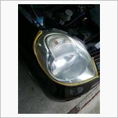 【MG22Sモコ:知人の車】ヘッドライト磨きの画像