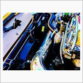 エンジンルーム内磨き作業。の画像
