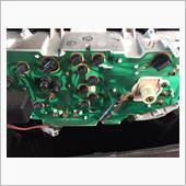 メーターの電球交換とスピードメーターケーブルのグリスアップ