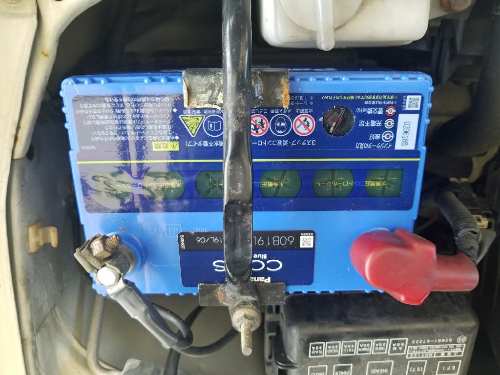 ミラジーノ バッテリー交換