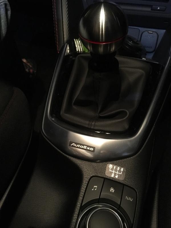 AutoExe チタンシフトノブ MT車用(A1341-22) 取付